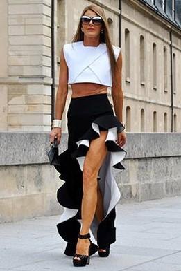 Loving this black thigh slit ruffled long skirt skirt!! Any color will do! - SeenIt