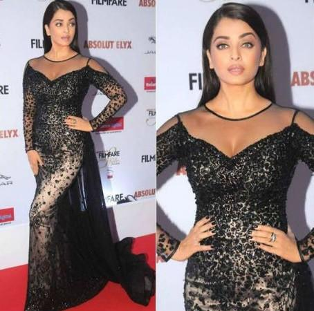 Aishwarya Rai Bachchan in La Bourjoisie at the Filmfare Glamour And Style Awards 2016. - SeenIt