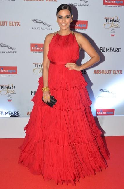 Neha Dhupia in Shantanu and Nikhil at the Filmfare Glamour And Style Awards 2016. - SeenIt