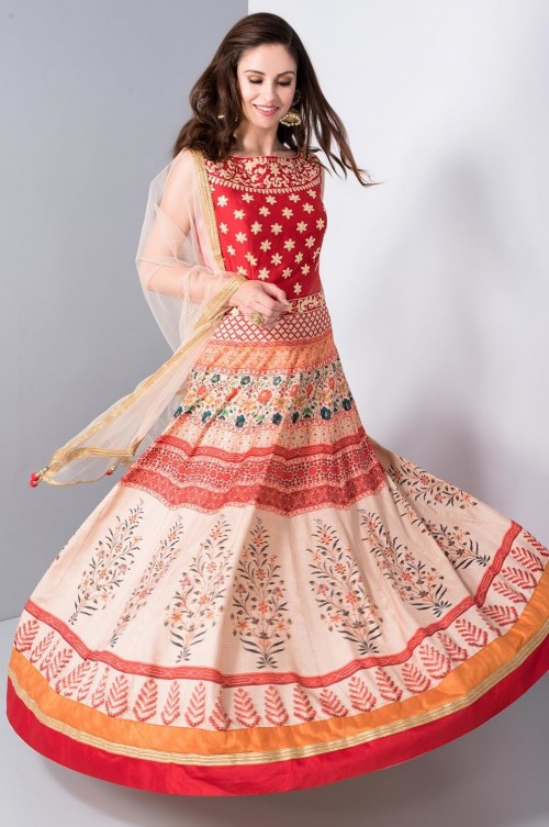 Please help me find this traditional red and white anarkali !! - SeenIt