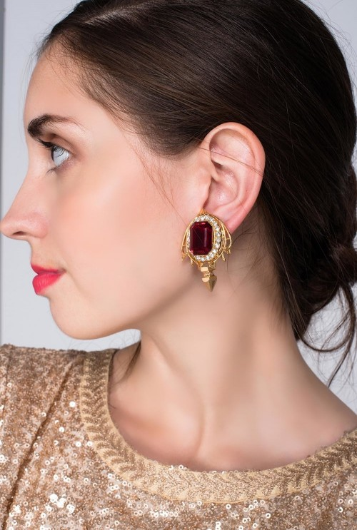 Help me find these ruby studded  earrings! - SeenIt
