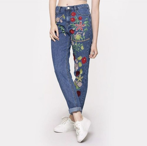 Simply woow! Love the embroidery..on the boyfriend denims - SeenIt