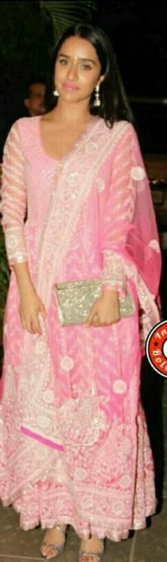 Want the pink anarkali that Shraddha Kapoor is wearing - SeenIt