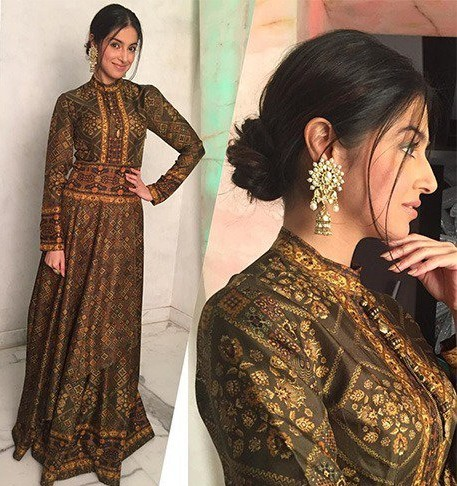 Want this olive green layered gown for a wedding - SeenIt