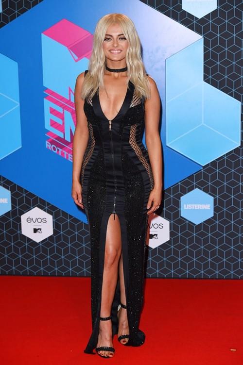 Bebe Rexha in Julien Macdonald at the EMA Awards. - SeenIt