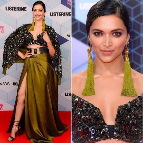 Deepika Padukone in Monisha Jaising at the EMA Awards. - SeenIt