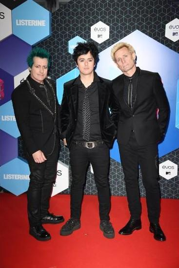 The band Green Day at the EMA Awards. - SeenIt