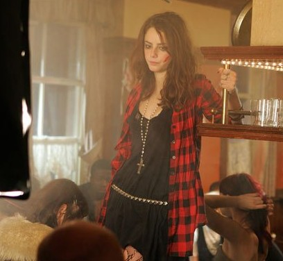 Obsessed with Effy Stonem's clothing!! :D  help me find the entire outfit- red and black plaid shirt, black dress and the golden cross pendant necklace. TIA - SeenIt