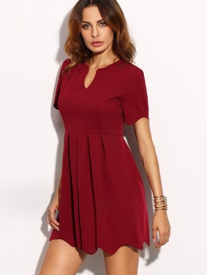 Burgundy is so in! Help me find this a-line dress in the same colour - SeenIt