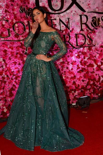 Katrina Kaif in Ziad Nakad at Lux Golden Rose Awards 2016. - SeenIt