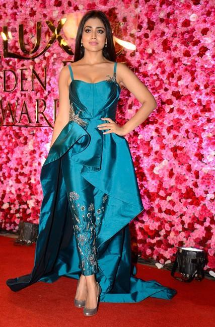 Shriya Saran in Rajat Tangri at Lux Golden Rose Awards 2016. - SeenIt