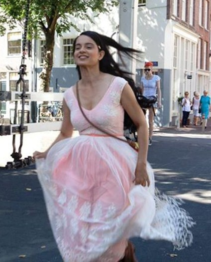 Kangana Ranaut's white and pink dress from the movie Queen.. - SeenIt
