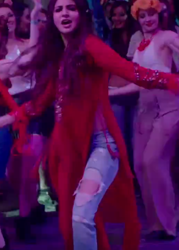 want a similar long red side slit kurta anushka wore in breakup song from adhm - SeenIt