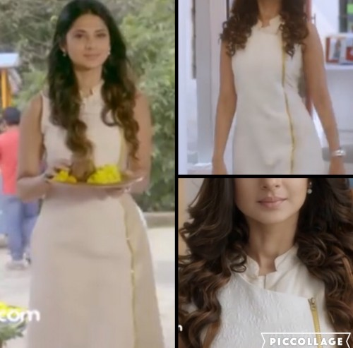 This white sleeveless zipper kurta work by Jennifer Winget is all i want! - SeenIt