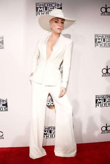 Lady Gaga in Brandon Maxwell at the American Music Awards 2016. - SeenIt