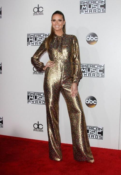 Heidi Klum in Wolk Morais at the American Music Awards 2016. - SeenIt