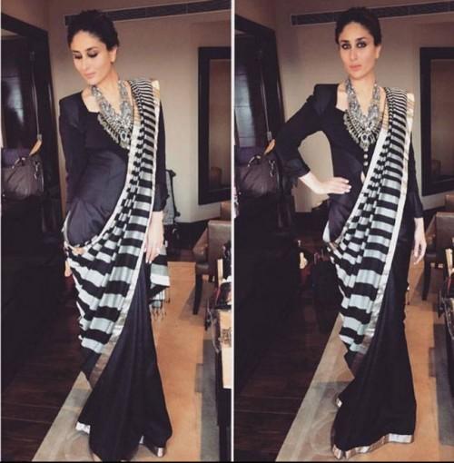 something similar to this   blazer drape saree - SeenIt