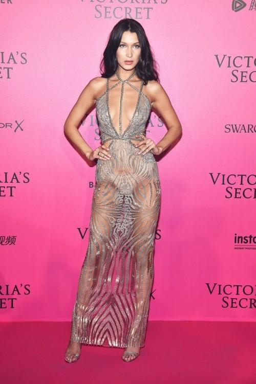 Could'nt be more sheer! Bella Hadid at the Victoria's Secrets After Party.  - SeenIt