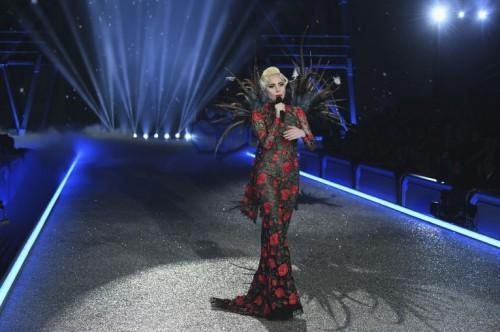 Lady Gaga impressed everyone in this floral gown at the  Victoria's Secrets Fashion Show - SeenIt