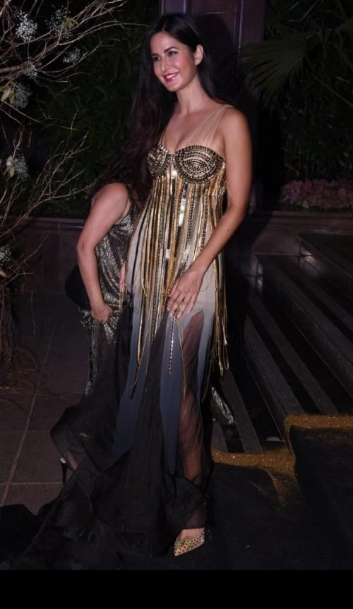 Katrina Kaif in Jani - Khosla gown at Manish's B'day Bash. She definitely nailed the look! - SeenIt