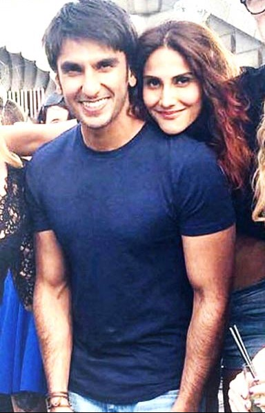 Isn't this picture cute? I want ranveer singh's basic round neck tee for my bro... - SeenIt