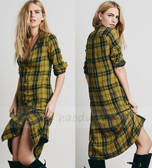 want this plaid long shirt dress from indian websites. Long length required - SeenIt
