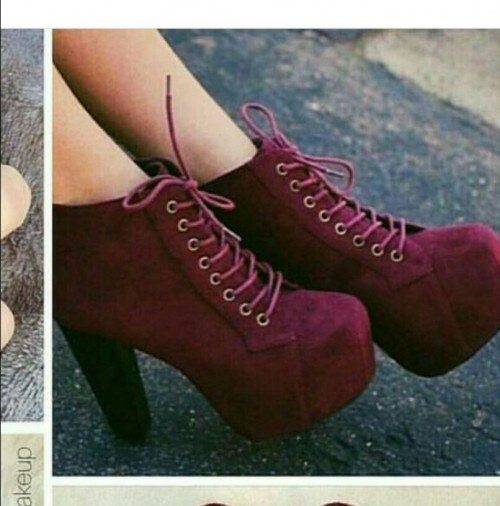 want a similar pair of maroon wedge sneaker booties - SeenIt