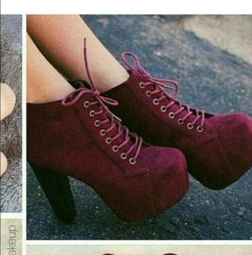 want a similar pair of maroon wedge sneaker booties - SeenIt