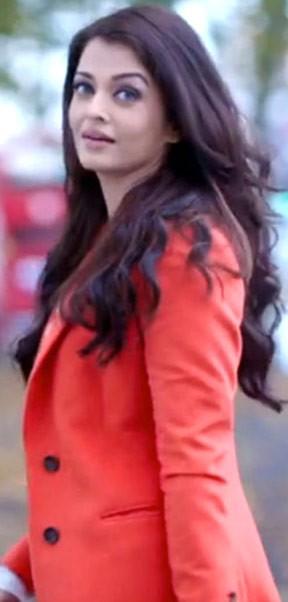 want a similar orange coat aishwarya is wearing - SeenIt