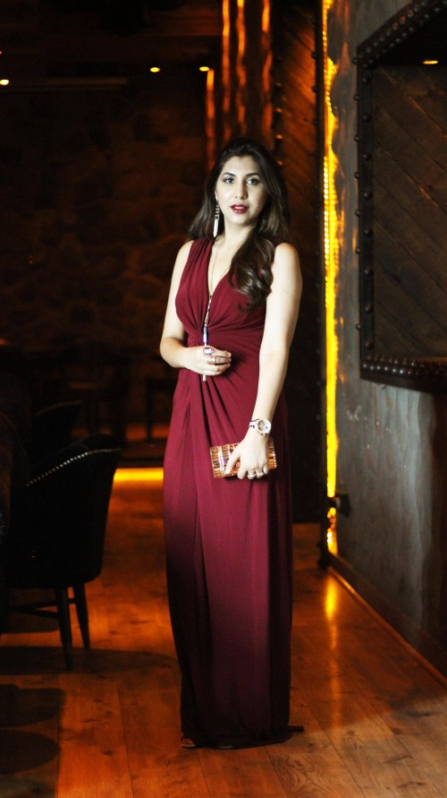 This maroon full length maxi dress on an Indian website plz.. - SeenIt