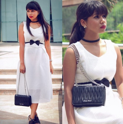This is such a cute white sleeveless sheer dress!!! I want the belt also plzzzz - SeenIt