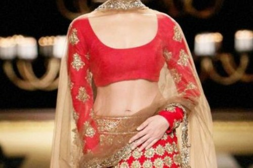 Want this alia boat's red embroidered lehenga in WHITE or PINK - SeenIt