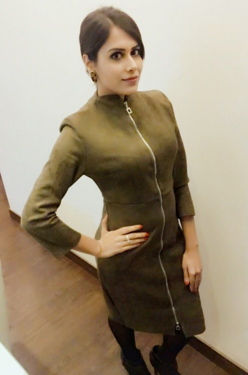 Brown suede zipper dress from an Indian site please.. - SeenIt