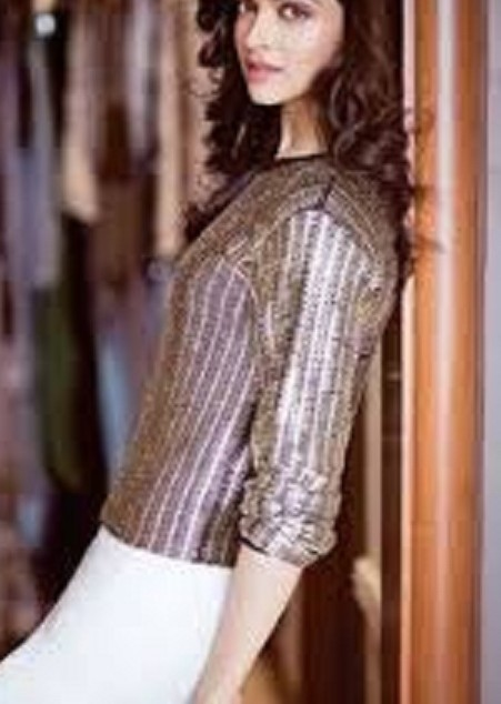 Want the bronze shimmer top that Deepika Padukone is wearing - SeenIt