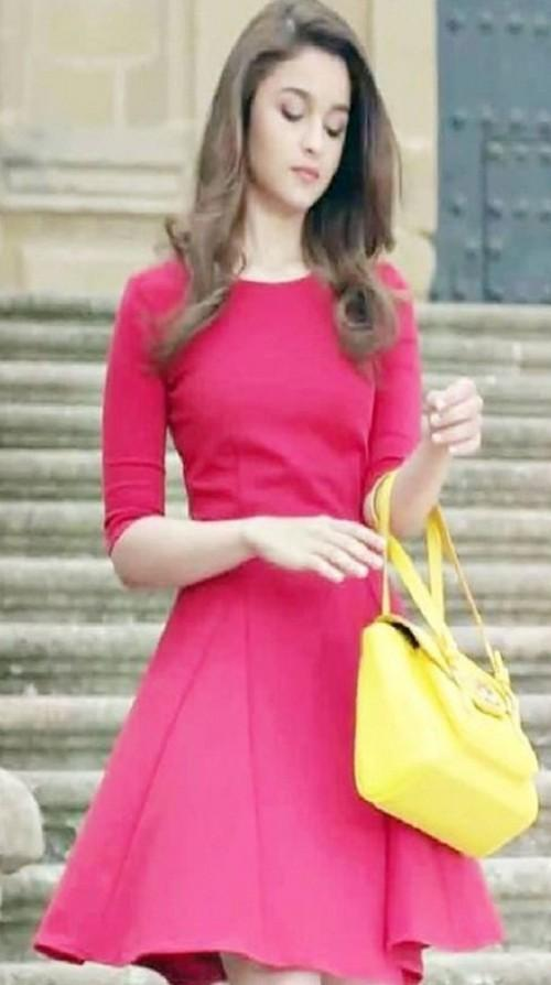 66dce3173d looking for this summer red skater dress alia wore - SeenIt