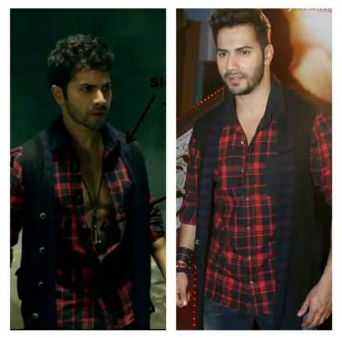 cañ u plz tell me where do i get varun dhawans plaid shirt and jacket. - SeenIt
