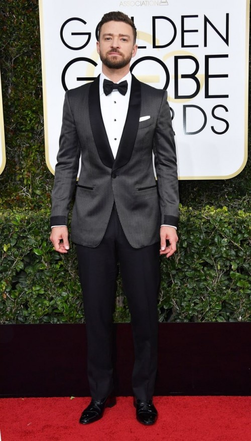 Justin Timberlake in Tom Ford at the Golden Globe Awards 2017. - SeenIt