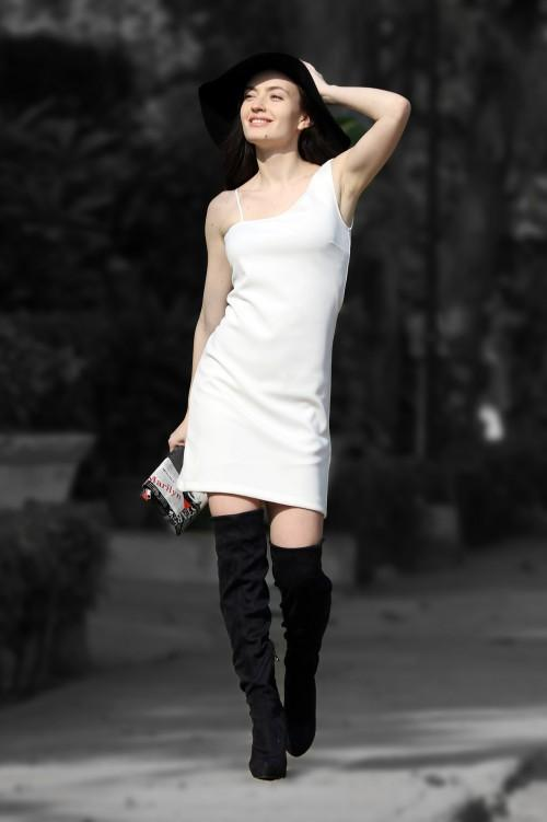 Looking for this white one shoulder mini dress.. - SeenIt