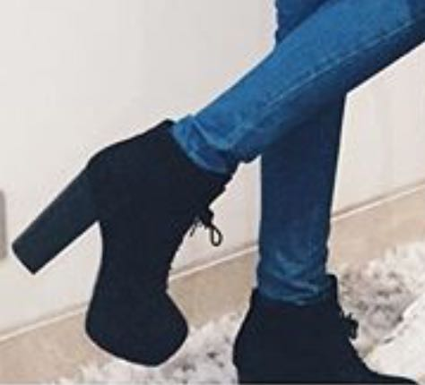 need similar black block heels but not heels as high as this - SeenIt