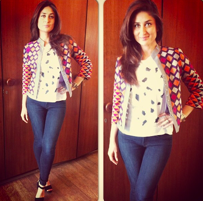 Want the colourful jacket that Kareena Kapoor is wearing - SeenIt