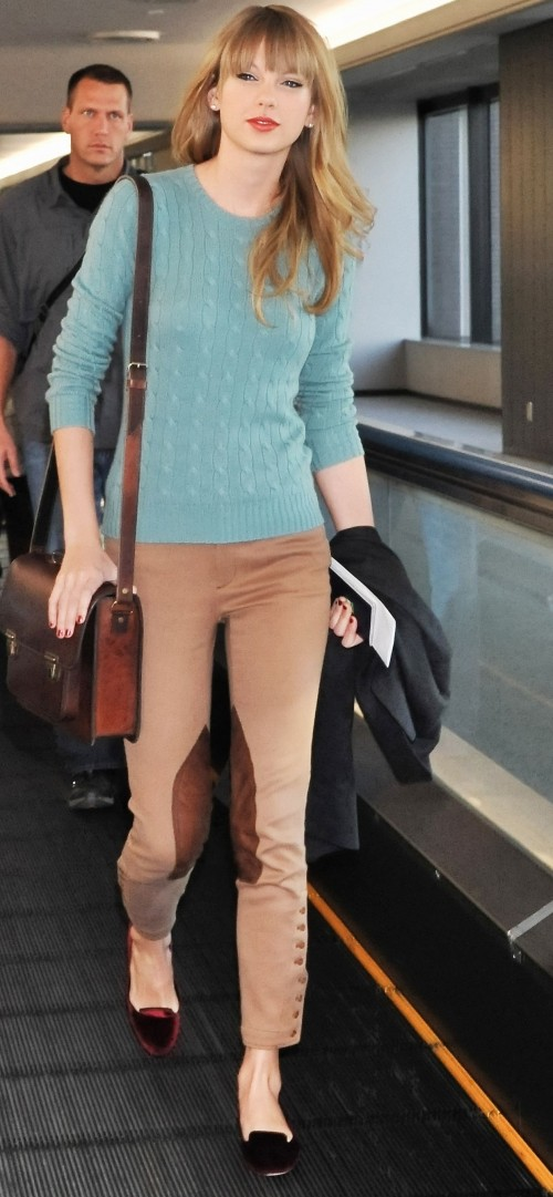 need a similar blue top and beige pants - SeenIt
