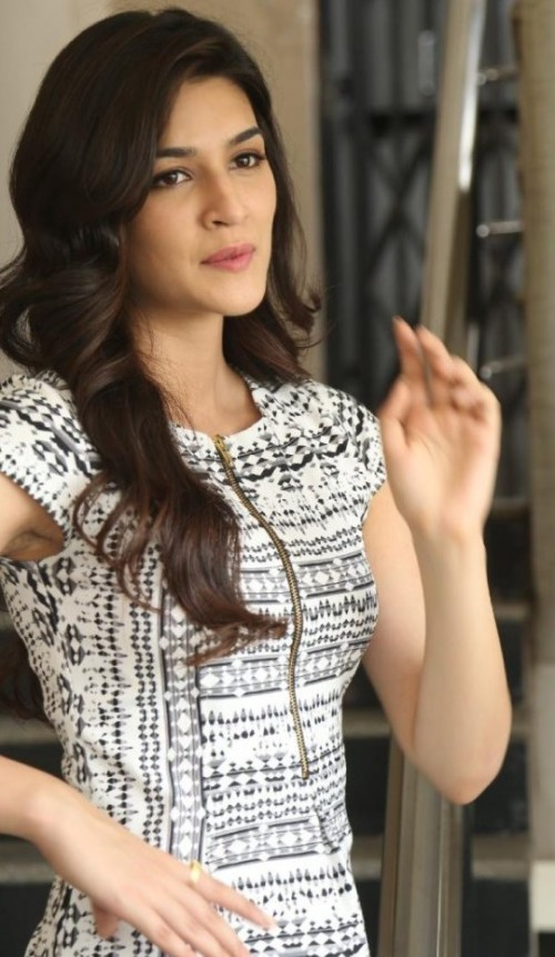 Want the white printed dress which Kriti Sanon is wearing - SeenIt