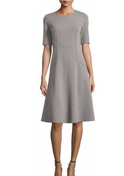 want a similar grey plain a-line dress - SeenIt