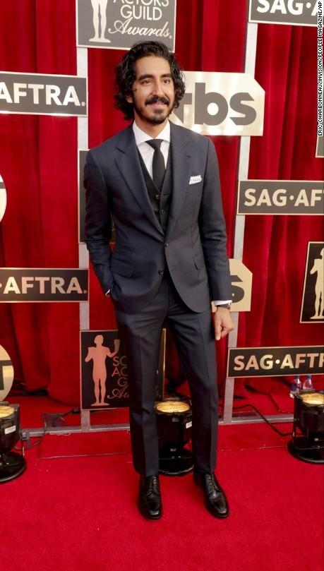 Dev Patel was spotted in a black three piece suit at the SAG Awards 2017. - SeenIt