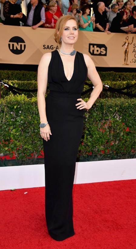 Amy Adams looked classy in a black gown at the SAG Awards 2017. - SeenIt