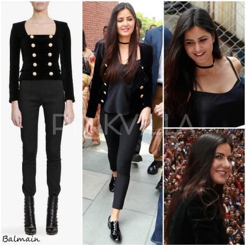 want a similar black double breasted short stylish coat katrina is wearing - SeenIt