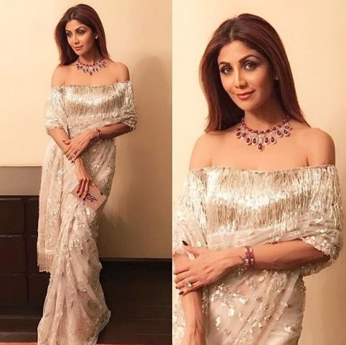 Shilpa in a gorgeous Manish Malhotra saree.. Yay or nay? - SeenIt