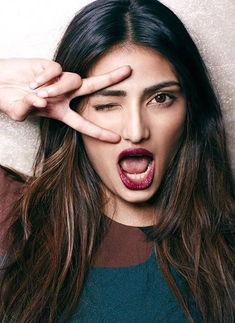 Loving the Magenta shade lipstickthat Athiya used in the photoshoot - SeenIt