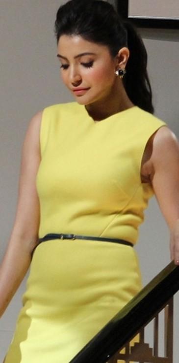 need a similar yellow bodycon dress online like Anushka's.. - SeenIt