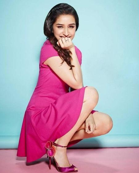 The pink dress that Shraddha is wearing is a must this Valentines Day. - SeenIt